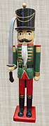 Green Jacket Prints - Nutcracker Swordsman Print by Daniel Hagerman