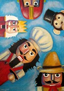 Original Art Pastels Originals - Nutty bunch 2 by Michael Alvarez