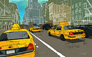Traffic Congestion Originals - NY Cabs by Adz Akin