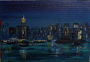 Print On Acrylic Prints - NY Skyline Abstract Print by Rich Mason