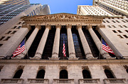 Stock Trading Prints - NY Stock Exchange Print by Brian Jannsen