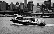 Manhaten Posters - NY waterway ferry Douglas B Gurian from new jersey to new york city Poster by Joe Fox