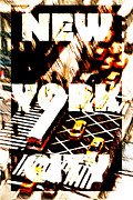 New York Newyork Digital Art Metal Prints - Nyc Metal Print by Andrea Barbieri