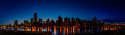 New York City Skyline Photos - NYC Blue Hour by Randy Scherkenbach