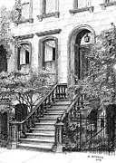 Nyc Drawings - NYC Brownstone by Al Intindola