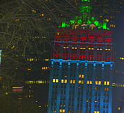 Nyc Christmas Time Print by Sue Rosen