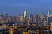 Nyc Citicorp Center And Queensboro Bridge Print by Juergen Roth
