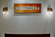 City Hall Prints - NYC City Hall Subway Station Print by Susan Candelario