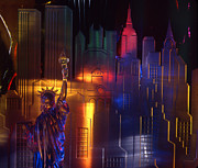 Manhattan Glass Art - Nyc by Etti Palitz