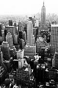 Rockefellar Prints - NYC from Rockefeller Center Print by Hee Jeong Savvides