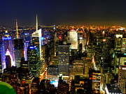 Skylines Photos - NYC - From the Empire State Building 001 by Lance Vaughn