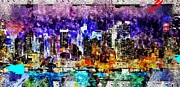Towns Digital Art - NYC Grunge by Daniel Janda