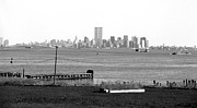 The Twin Towers Prints - NYC in the Distance 1990s Print by John Rizzuto