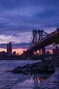 Hannes Cmarits - NYC - Manhatten Bridge at Night II