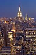 Freedom Tower Prints - NYC Midtown and Downtown Print by Juergen Roth