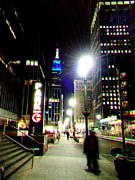 Building Digital Art Originals - NYC Night Walk by Li   van Saathoff