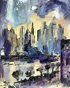State Paintings - Nyc by Odon Czintos