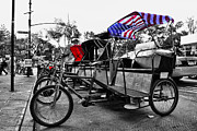 Lined Up Framed Prints - NYC Pedicabs Framed Print by Paul Ward