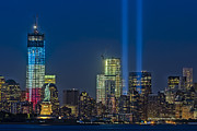 Nightscapes Prints - NYC Remembers September 11 Print by Susan Candelario