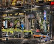 Nyc Shopping Print by Arnie Goldstein