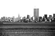 Wtc Center Framed Prints - NYC Skyline 1990s Framed Print by John Rizzuto
