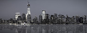 Bluesky Metal Prints - NYC Skyline Metal Print by Eduard Moldoveanu