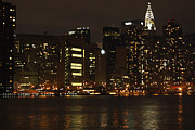 Telfer Posters - NYC Skyline from the Water Poster by John Telfer