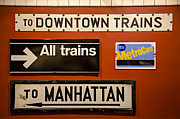 Sign Posters - NYC Subway Signs Poster by Susan Candelario