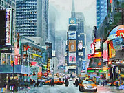 Live Art Framed Prints - NYC Times Square Framed Print by Yury Malkov