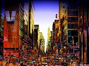 Broadway Digital Art Originals - Nyc by Vince Dark