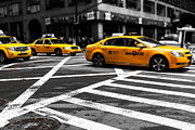 Colorkey Prints - NYC  Yellow Cab - ckI Print by Hannes Cmarits