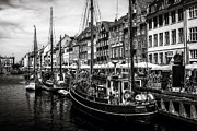 Town Pier Framed Prints - Nyhavn Harbor Framed Print by Erik Brede