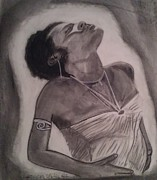All American Drawings - Nylawithimme by Anthony Lewis