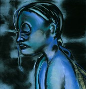 Young Woman Pastels - Nymph by Danyl Cook