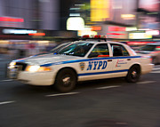 Howard Heywood Metal Prints - NYPD Car in Times Square Metal Print by Howard Heywood