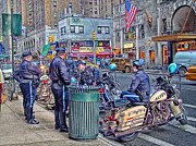 Street Photography Digital Art Framed Prints - NYPD Highway Patrol Framed Print by Ron Shoshani