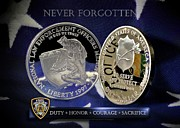 New York City Police Framed Prints - NYPD Memorial Framed Print by Gary Yost
