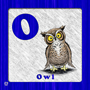 Abc Drawings - O for Owl by Jason Meents
