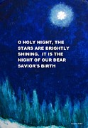 Meaningful Art Framed Prints - O Holy Night Framed Print by Annie Zeno