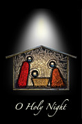 Manger Posters - O Holy Night Poster by Walt Foegelle