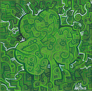 St. Patrick Paintings - O Lucky by Michael Ciccotello