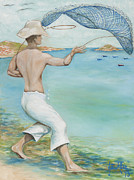 Joseph Edward Allen Paintings - O Pescador by Joseph Edward Allen