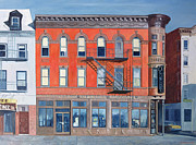 American City Scene Paintings - O Sunghai Restaurant West Village by Anthony Butera