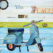 Fun Mixed Media Prints - O The Places Youll Go Print by Danny Phillips
