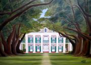Oak Alley Plantation Painting Framed Prints - Oak Alley Framed Print by Mona  Stilson