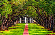 Live Oak Digital Art - Oak Alley paint version by Steve Harrington