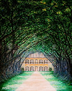 Oak Alley Plantation Painting Framed Prints - Oak Alley Plantation Framed Print by Aimee Mouw