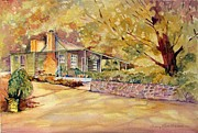 Miners Paintings - Oak Cottage Beechworth Victoria Australia by Audrey Russill