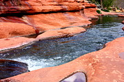 Oak Creek Canyon Prints - Oak Creek at Slide Rock Print by Carol Groenen