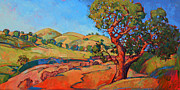 Wine Making Painting Prints - Oak in the Wash Print by Erin Hanson